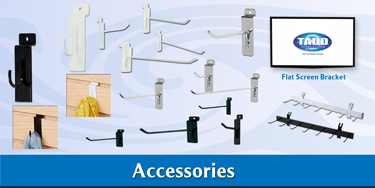 slat wall accessories for trade show displays