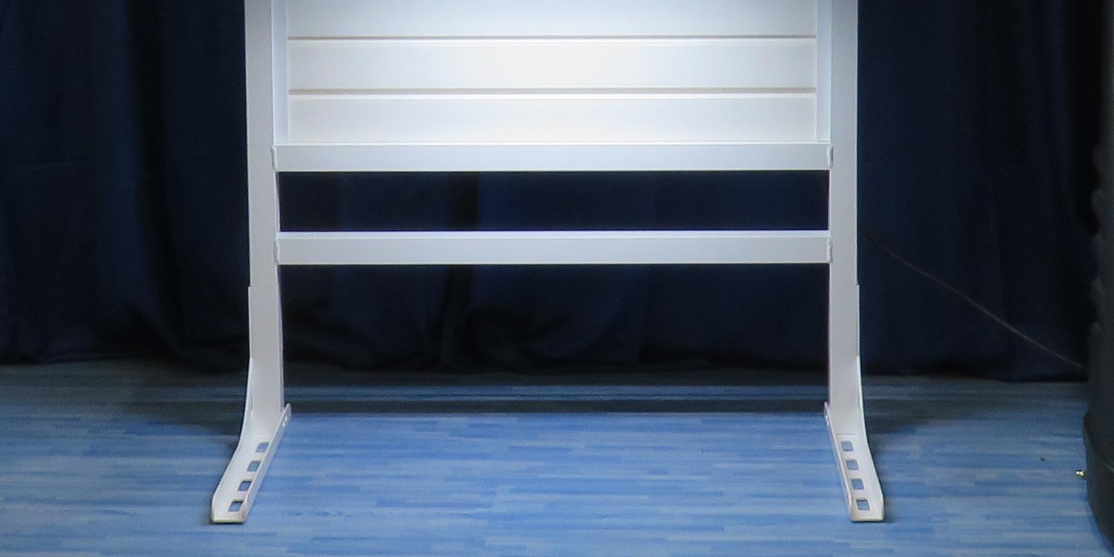 Low Cost Slat Wall Floor Stands   Trade Show Slat Wall Panel Kits