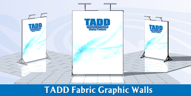 Fabric graphic displays for trade shows
