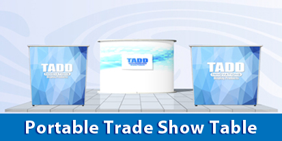 Portable trade show tables