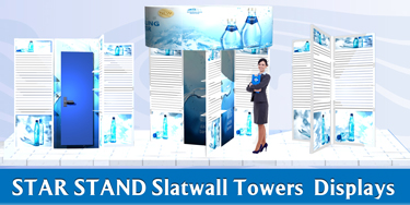 star slat wall tower displays